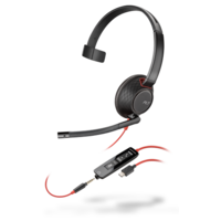 Blackwire C5210, Monaural USB-C Headset with 3.5mm plug