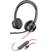 Poly Blackwire 8225 UC, Stereo USB-A Corded Headset, ANC, Online Indicator with call controls