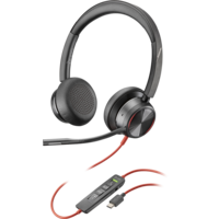 Poly Blackwire 8225-M UC, Stereo USB-C Corded Headset, ANC, Online Indicator with call controls