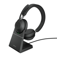 Jabra Evolve2 65 - MS Stereo - Black Link 380 USB-A and Charging Stand USB-A