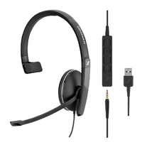 SC 135 USB Wired monaural UC headset with 3.5 mm jack and USB connectivity