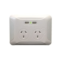 Eversure Clip Over Wall Plate with 2 x USB Ports