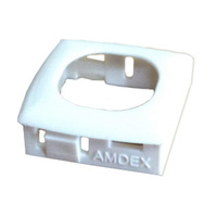 Workstation Bezel suit 1.5mm thick panel (AMDEX/Clipsal style) White