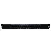 16 Port Cat5e Patch Panel including cage nuts
