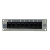 8 Port Cat6 Recessed Patch Panel