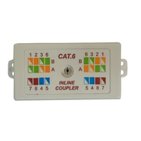 Inline Punchdown Coupler Cat6 Data Cable Joiner
