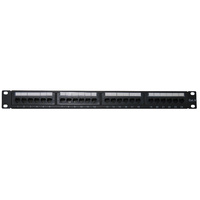 CAT 6 180 Deg 24 Port Patch Panel