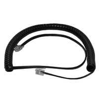 3m Black Telephone Curly Cord - Ericsson + Others