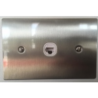 1 Gang Stainless Steel Wall Plate Clipsal Style Jacks