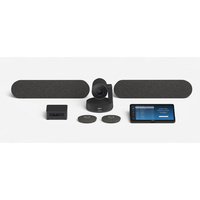 Logitech Tap with Conference Camera and Zoom Rooms PC for Large Rooms