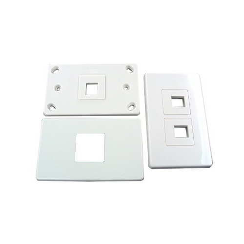 1 port keystone plate